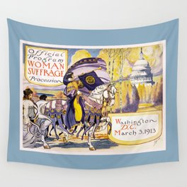 1913 Women's rights march Washington Wall Tapestry