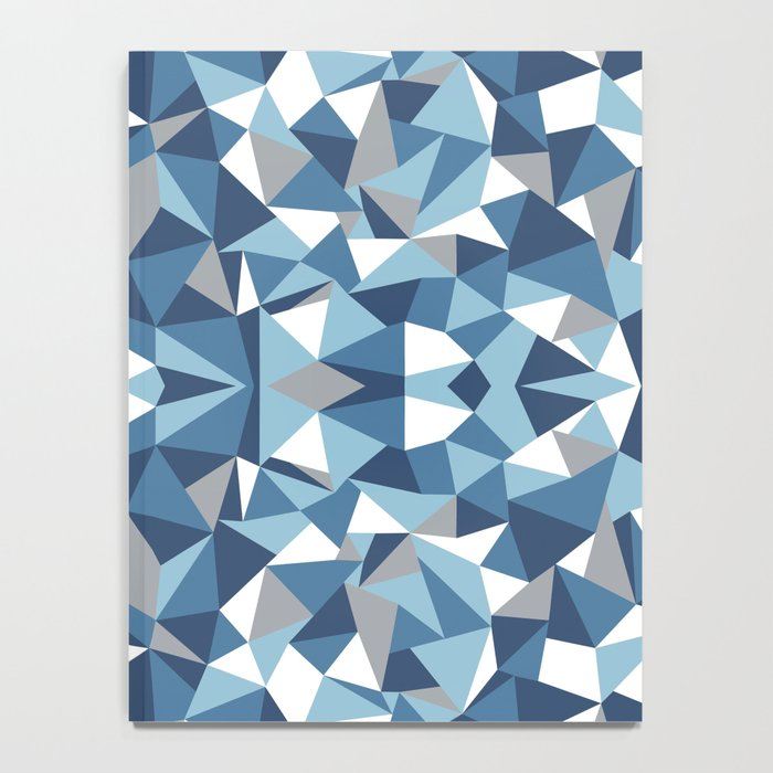 Abstract Collide Blues Notebook