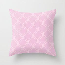 Double Helix - Light Pinks #303 Throw Pillow