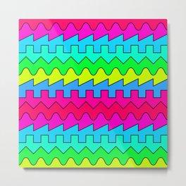 Waves // Color Metal Print