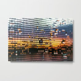 Dewdrop Sunset Metal Print