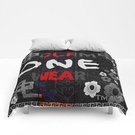 Slam One Wear Chinese Garden B/W Comforters