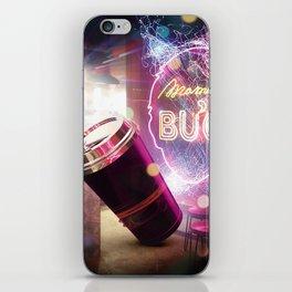 Neon Spill iPhone Skin