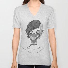 Smile mask Unisex V-Neck