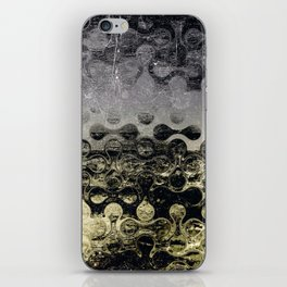 Distressed Silver Gold Multi Pattern Abstract iPhone Skin