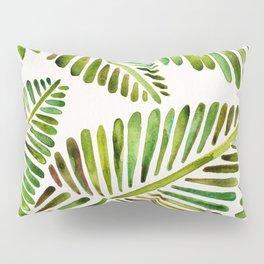 Tropical Banana Leaves – Green Palette Pillow Sham