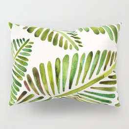 Tropical Banana Leaves – Green Palette Pillow Sham