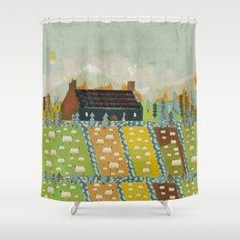 wooly fields Shower Curtain