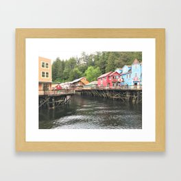Creek Street Ketchikan Alaska Framed Art Print
