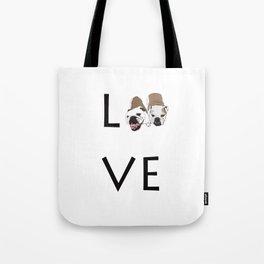 Love. English Bulldogs Tote Bag
