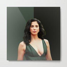 Sarah Silverman - Celebrity -  Oil Paint Art Metal Print