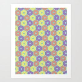 hexagonal primaries Art Print