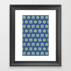 Cute Monster Pattern Framed Art Print