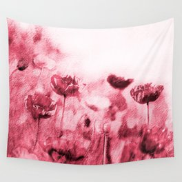 Crimson Poppies Wall Tapestry
