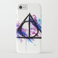 deathly hallows iPhone & iPod Cases featuring Deathly Hallows by Sterekism