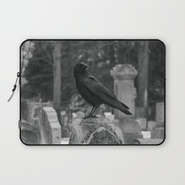 Crow In Shades Of Stone Laptop Sleeve
