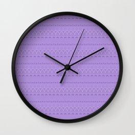 Purple ornament 4 Wall Clock