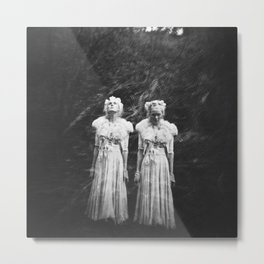 The Twin in the Forest - Film Double Exposure  Metal Print