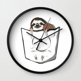 Sloth Pocket Wall Clock