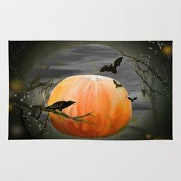 Pumpkin And Crows Rug