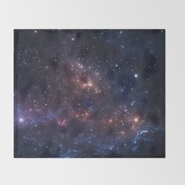 Stars and Nebula Throw Blanket