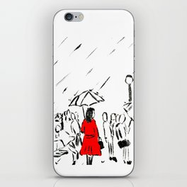 The Girl In The Red Rain Coat (Part 1)  Fine Art Acrylic Painting iPhone Skin