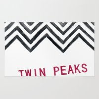twin peaks Area & Throw Rugs featuring Twin Peaks by BITN