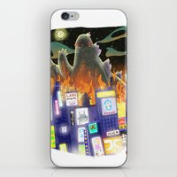 godzilla iPhone & iPod Skins featuring Godzilla by David Pavon