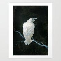 raven Art Prints featuring Raven by Jana Heidersdorf Illustration