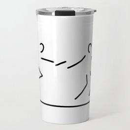 relay race athletics stick Travel Mug