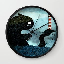 Lighthouse & Sea Monster Wall Clock