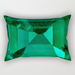 FACETED EMERALD GREEN MAY GEMSTONE Rectangular Pillow