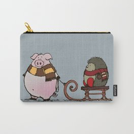 Pig and hedgehog Carry-All Pouch
