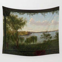 From the verandah of Purrumbete by Eu von Guerard Date 1858  Romanticism  Landscape Wall Tapestry