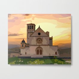 Assisi, town in Italy Metal Print
