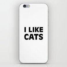 I Like Cats iPhone & iPod Skin