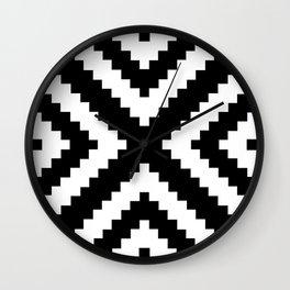 Tribal B&W Wall Clock