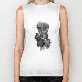 Black Geranium in White Biker Tank