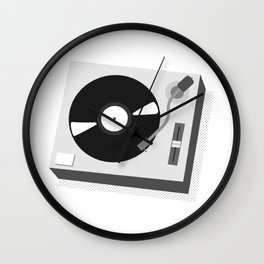 Turntable Illustration Wall Clock