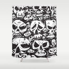 Stacking Skulls Shower Curtain