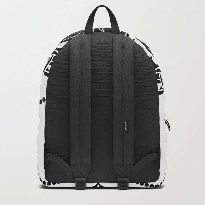 Black and White Mandala | Flower Mandhala Backpack