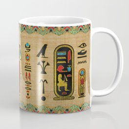 Egyptian Mut Ornament on papyrus Coffee Mug