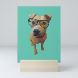 Kane the Staffie Dog Polygon Art Mini Art Print