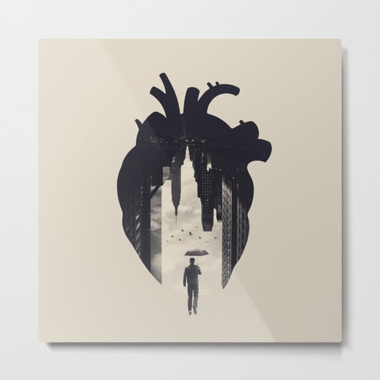 In the Heart of the City Metal Print
