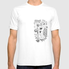 Trip the Light Fantastick MEDIUM White Mens Fitted Tee