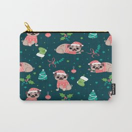 Merry Christmas funny Pug Carry-All Pouch