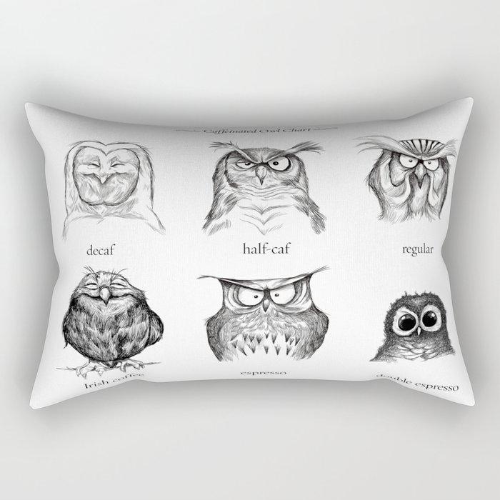 Caffeinated Owls Rectangular Pillow