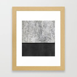 Rock the Casbah // concrete and paint colorblock collage Framed Art Print