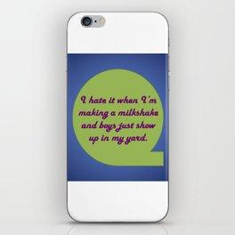 Milkshake Typeography iPhone Skin