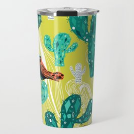 cactus with birds Travel Mug